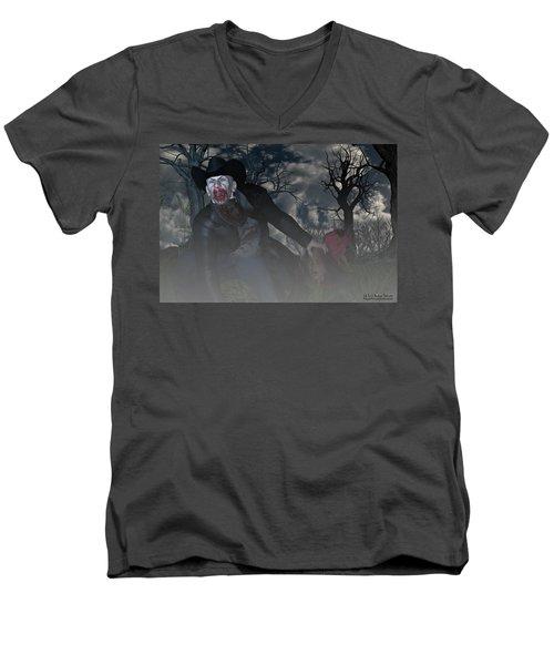 Vampire Cowboy Men's V-Neck T-Shirt