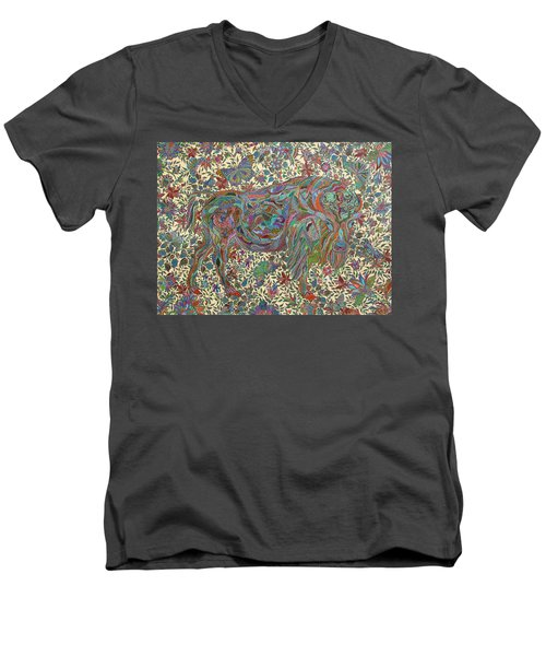 Where The Butterflies Roam  Men's V-Neck T-Shirt