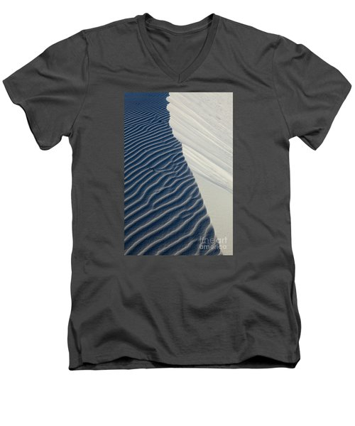 Men's V-Neck T-Shirt featuring the photograph White Sands by Keith Kapple