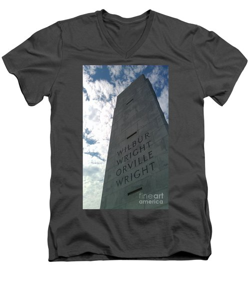 Wright Brothers Memorial Men's V-Neck T-Shirt