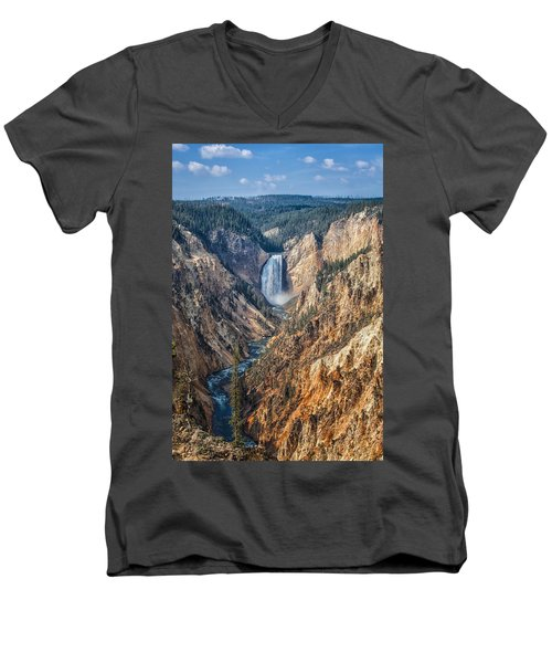 Yellowstone Lower Falls Men's V-Neck T-Shirt