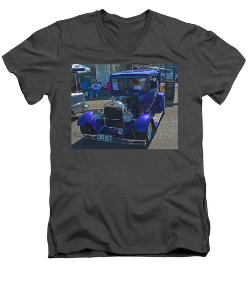 1929 Ford Model A Men's V-Neck T-Shirt by Tikvah's Hope