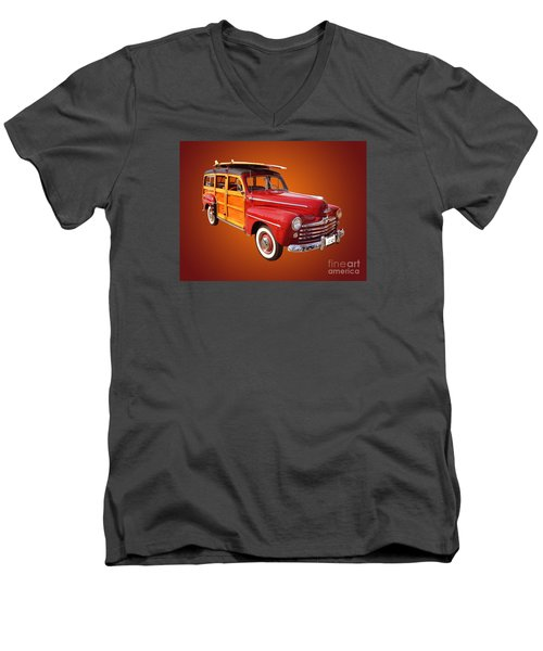 1947 Woody Men's V-Neck T-Shirt by Jim Carrell