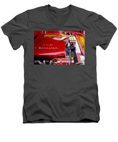 1955 Chevy Bel Air Custom Men's V-Neck T-Shirt