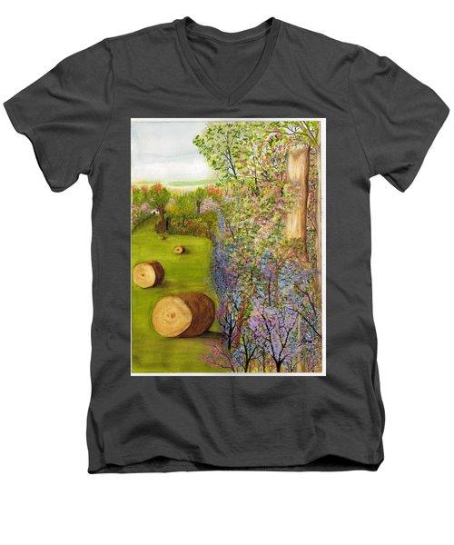 Dogwoods And Redbuds Men's V-Neck T-Shirt