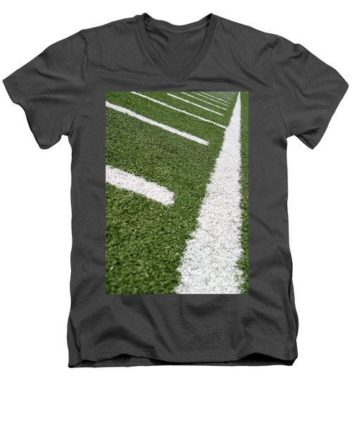Men's V-Neck T-Shirt featuring the photograph Football Lines by Henrik Lehnerer