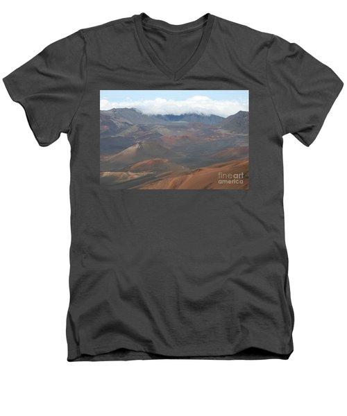 Haleakala Volcano Maui Hawaii Men's V-Neck T-Shirt by Sharon Mau