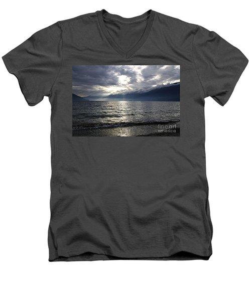 Sunlight Over A Lake Men's V-Neck T-Shirt