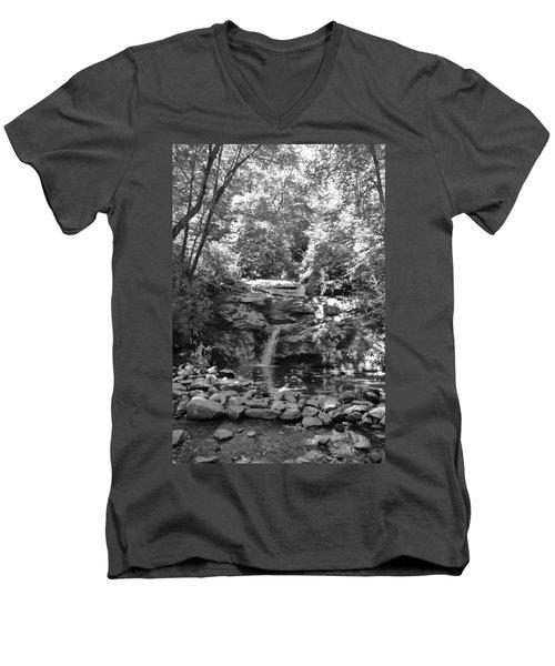 Set Rock Creek Falls Men's V-Neck T-Shirt by Joel Deutsch