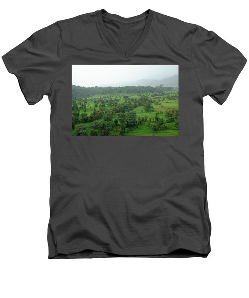 A Beautiful Green Countryside Men's V-Neck T-Shirt