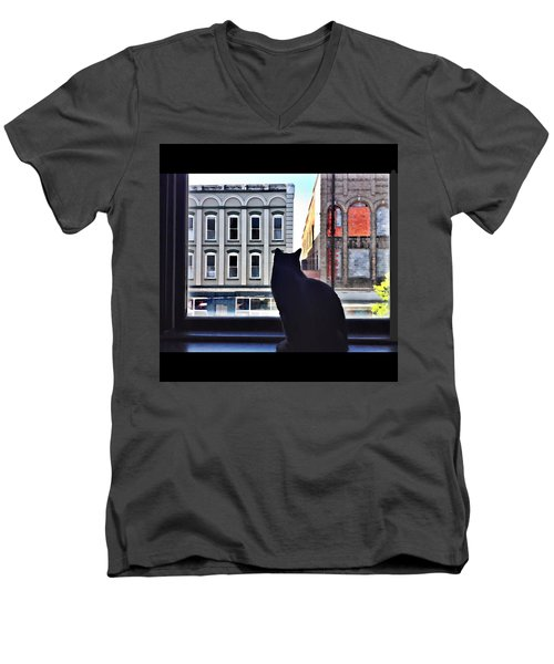 A Cat's View Men's V-Neck T-Shirt