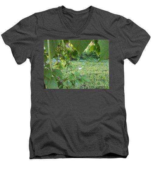 A Dot Of White Men's V-Neck T-Shirt