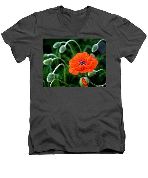 A Flower In Medusa's Hair Men's V-Neck T-Shirt