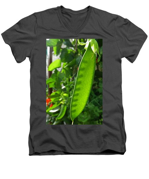 Men's V-Neck T-Shirt featuring the photograph A Green Womb by Steve Taylor