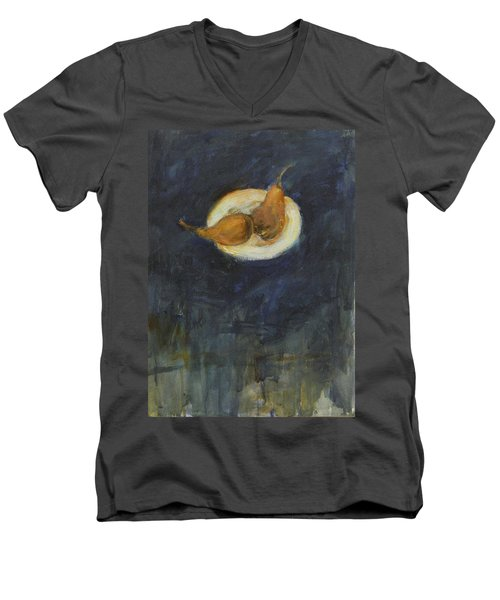 Men's V-Neck T-Shirt featuring the painting A Pair by Kathleen Grace
