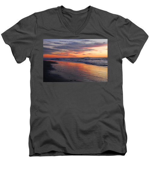 Men's V-Neck T-Shirt featuring the photograph A Passion For Purple by Lynn Bauer