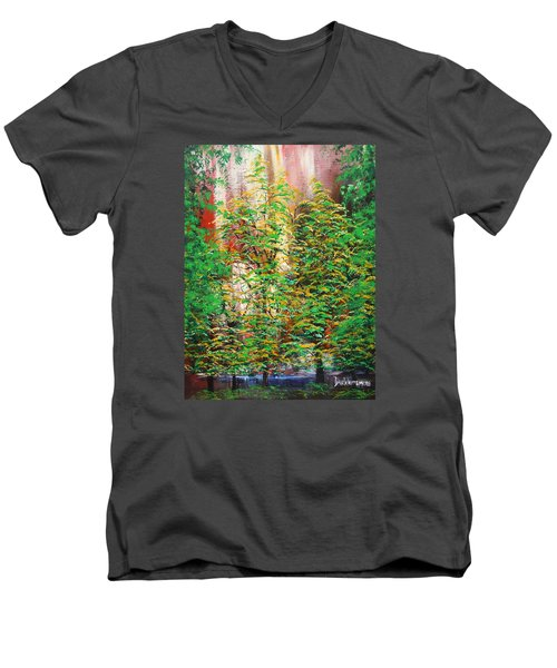 A Peaceful Place Men's V-Neck T-Shirt by Dan Whittemore