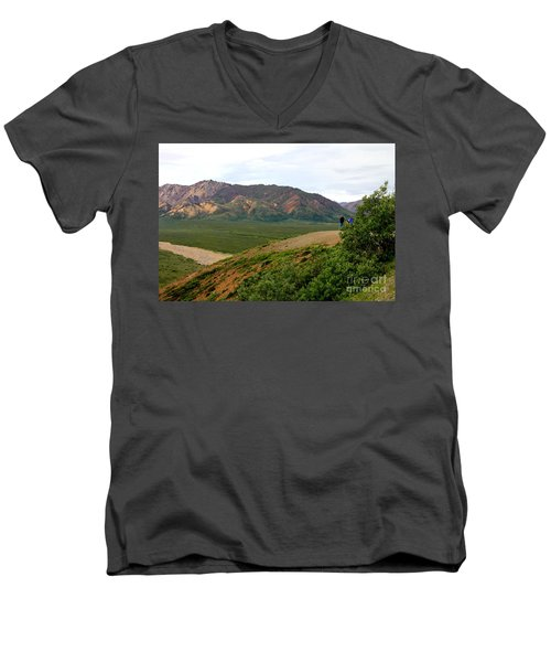 Men's V-Neck T-Shirt featuring the photograph A Photographer's Dream by Kathy  White