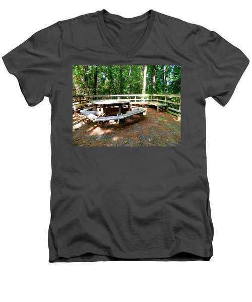 Men's V-Neck T-Shirt featuring the photograph A Place For Gathering by Ester  Rogers