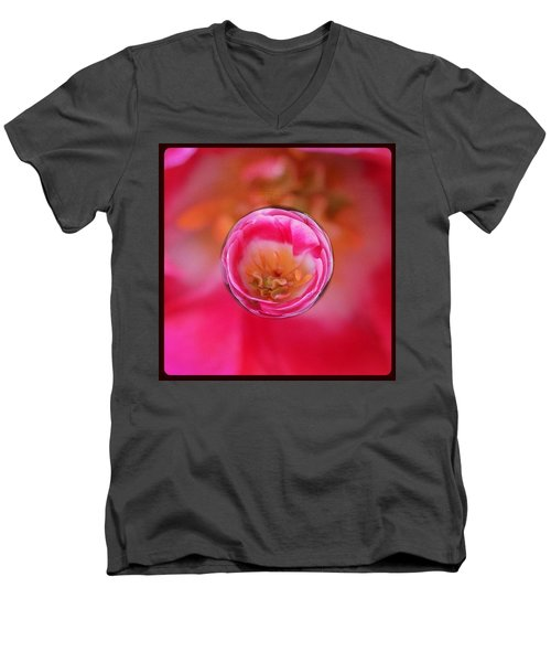 A Tiny Perfect Tulip In A Marble Men's V-Neck T-Shirt