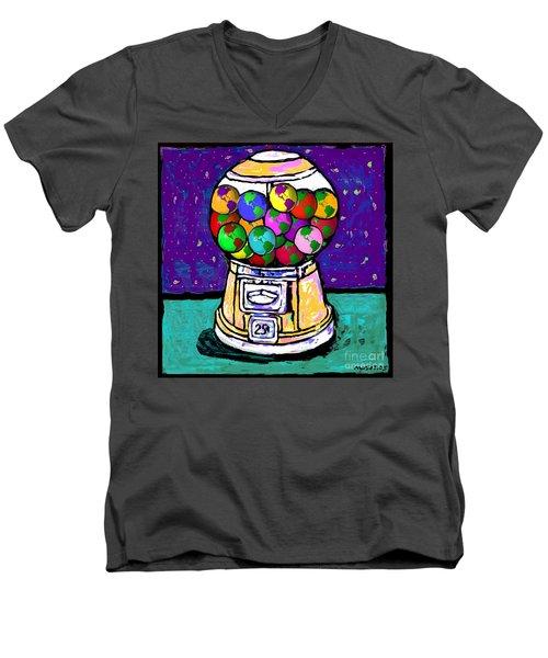 A World Of Gumballs Men's V-Neck T-Shirt