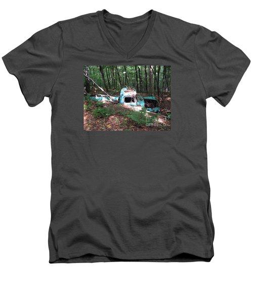 Abandoned Catskill Truck Men's V-Neck T-Shirt by Kathryn Barry