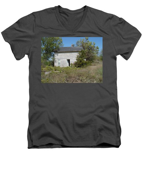 Men's V-Neck T-Shirt featuring the photograph Abandoned by Bonfire Photography
