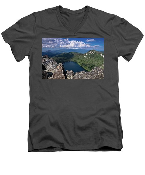 Above Castle Lake Men's V-Neck T-Shirt