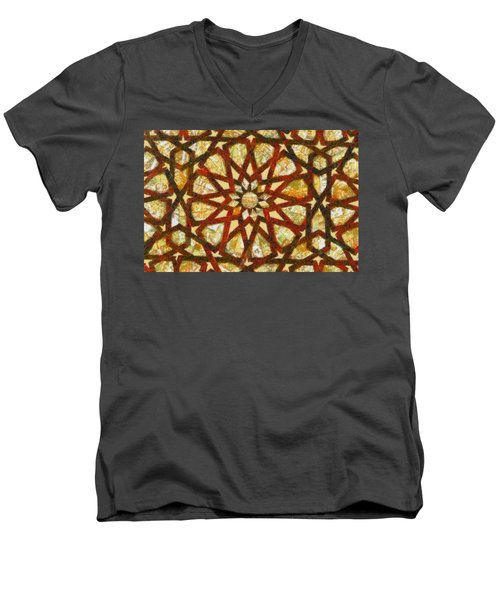 Abstract Art Men's V-Neck T-Shirt