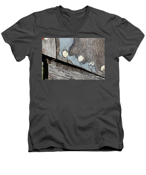 Abstract With Blue Men's V-Neck T-Shirt