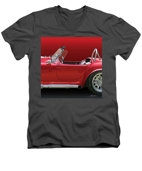Ac Cobra Detail Men's V-Neck T-Shirt