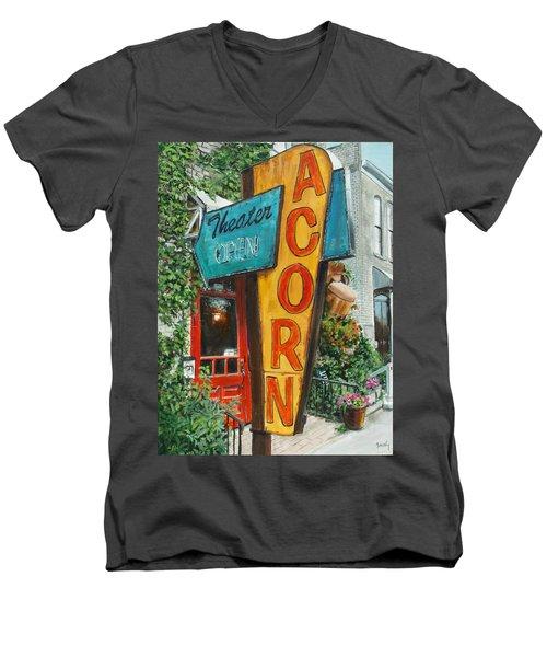 Acorn Theater Men's V-Neck T-Shirt