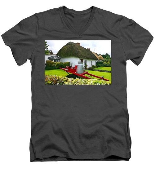 Men's V-Neck T-Shirt featuring the photograph Adare Cottage by Charlie and Norma Brock