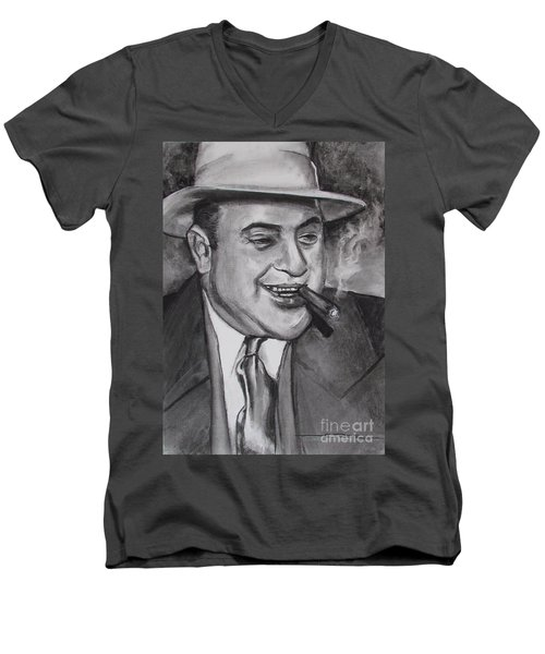 Al Capone 0g Scarface Men's V-Neck T-Shirt