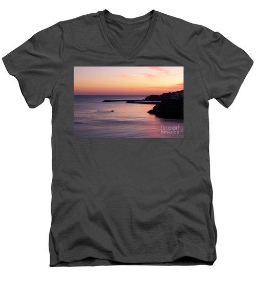 Men's V-Neck T-Shirt featuring the photograph Albuferian Sunset by Lynn Bolt