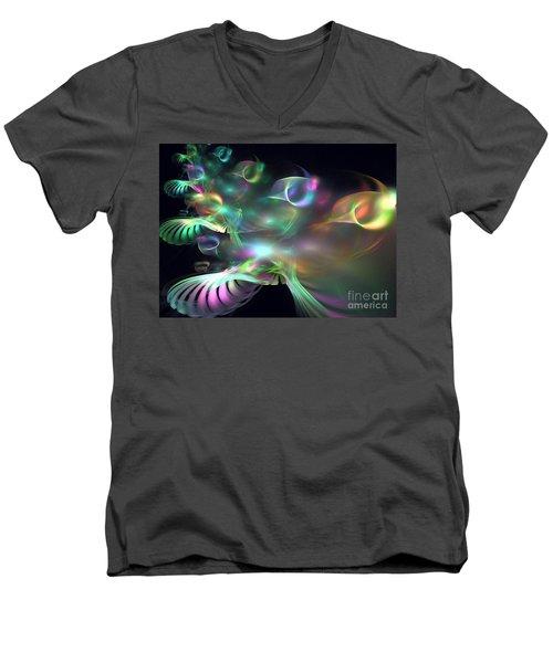 Alien Shrub Men's V-Neck T-Shirt by Kim Sy Ok