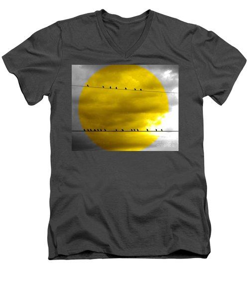 All Around The World Men's V-Neck T-Shirt by France Laliberte