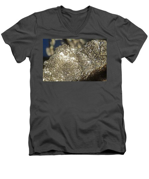 Men's V-Neck T-Shirt featuring the photograph All That Glitters Is Definitely Cold by Steve Taylor
