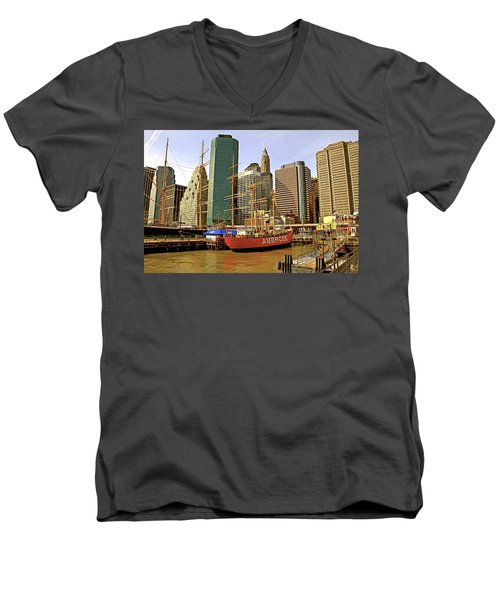 Men's V-Neck T-Shirt featuring the photograph Ambrose by Alice Gipson