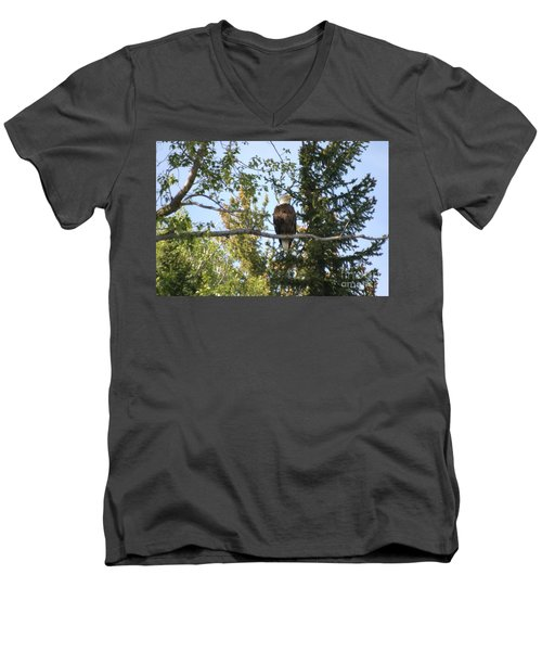 Men's V-Neck T-Shirt featuring the photograph American Eagle by Living Color Photography Lorraine Lynch
