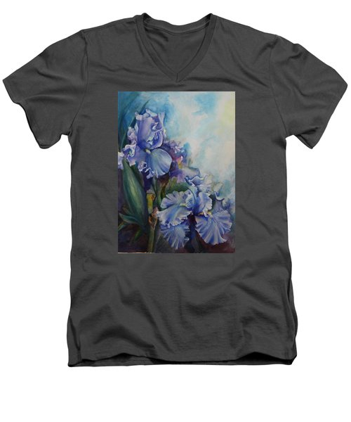 An Iris For My Love Men's V-Neck T-Shirt