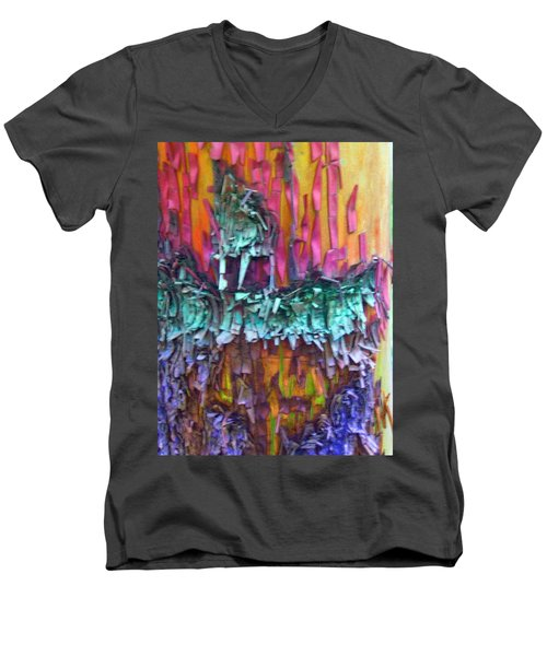 Men's V-Neck T-Shirt featuring the digital art Ancient Footsteps by Richard Laeton