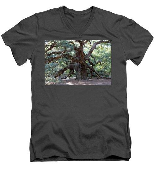 Angel Oak - Dont Climb Or Carve On The Tree Men's V-Neck T-Shirt