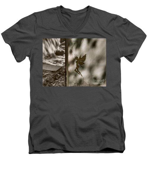 Angel Of Tallinn Men's V-Neck T-Shirt by Ari Salmela