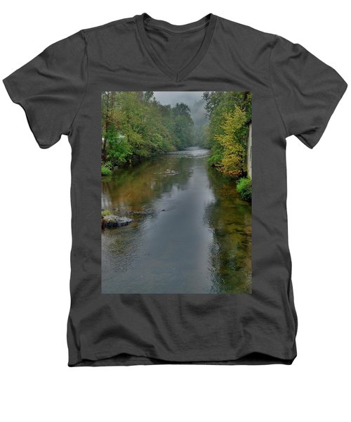 Men's V-Neck T-Shirt featuring the photograph Appalachian Trail by Janice Spivey