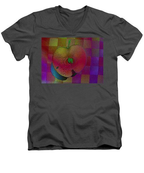 Men's V-Neck T-Shirt featuring the photograph Apple Of My Eye by David Pantuso