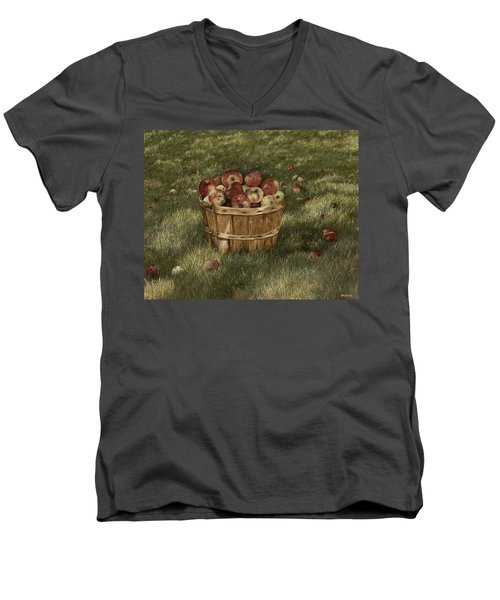 Apples In Basket Men's V-Neck T-Shirt