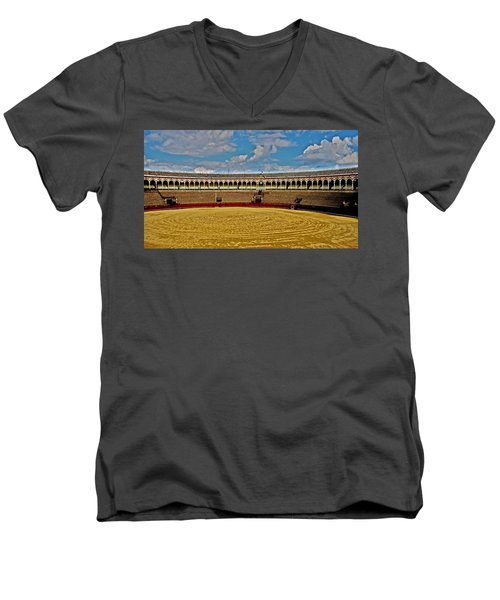 Arena De Toros - Sevilla Men's V-Neck T-Shirt
