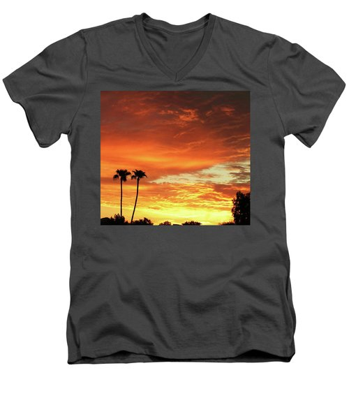 Arizona Sunrise 02 Men's V-Neck T-Shirt by Rand Swift