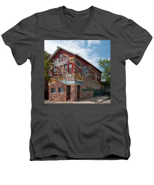 Art House South Chicago Mural Men's V-Neck T-Shirt by Loriannah Hespe